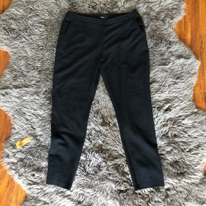 ASOS Black Dress Pants with Gold Side Zip